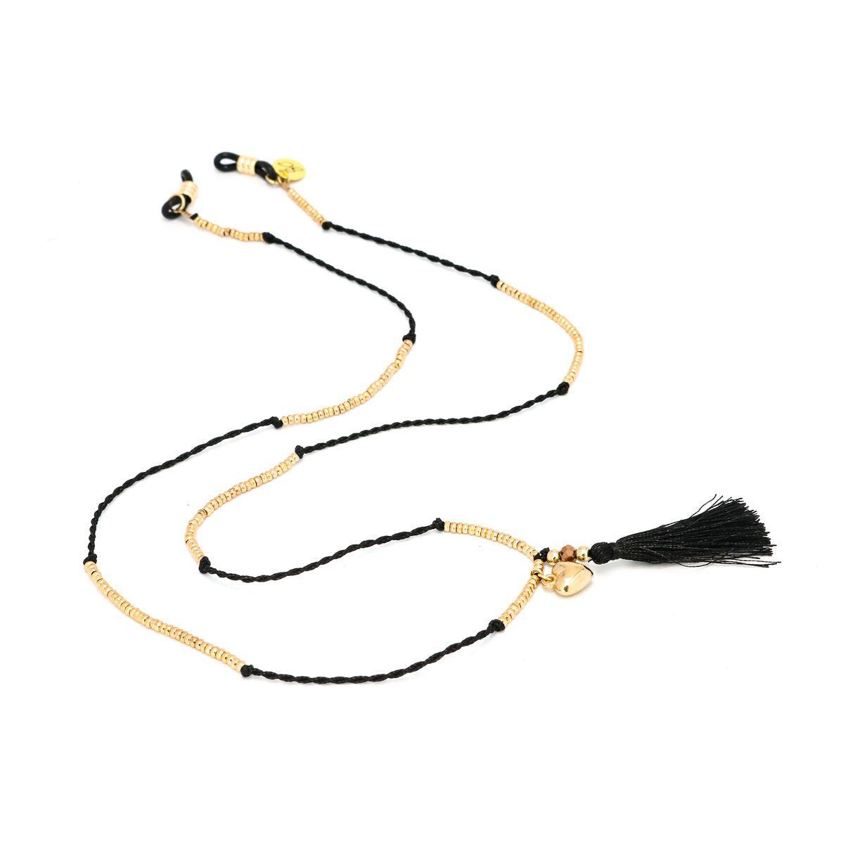 Sunny Cords Black Sunglass Chain - Mc Tassel