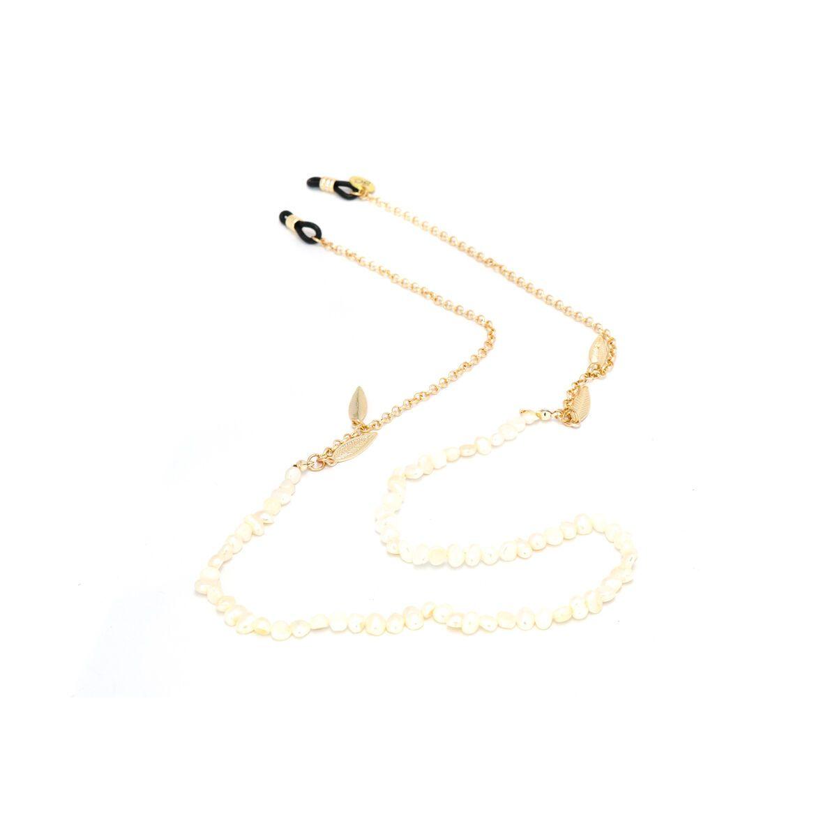 Sunny Cords White Sunglass Chain - Bead It Pearl