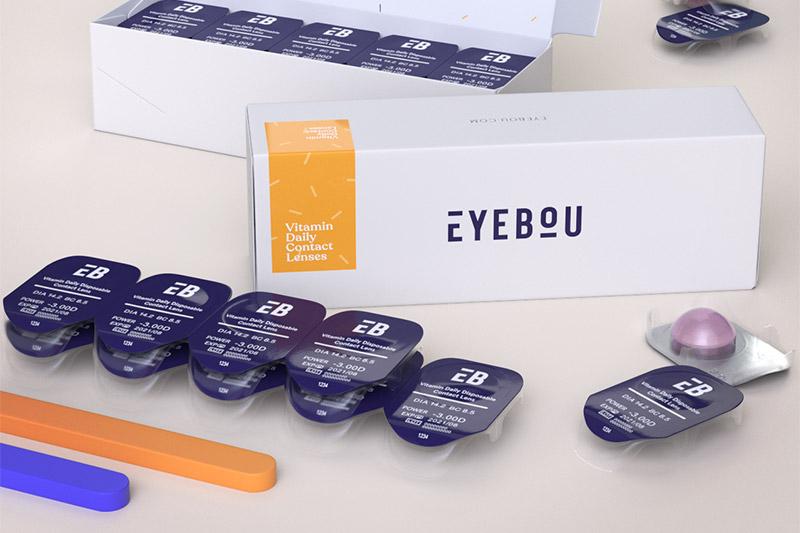 Eyebou vitamin daily contact lenses